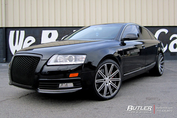 Audi A6 with 20in Vossen CV4 Wheels