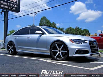 Audi A6 with 22in Lexani R-Six Wheels