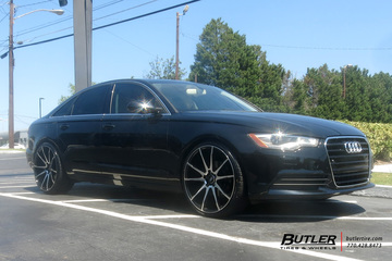 Audi A6 with 22in Savini BM12 Wheels
