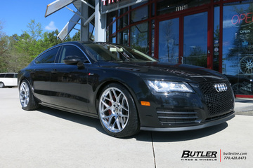 Audi A7 with 20in HRE FF01 Wheels