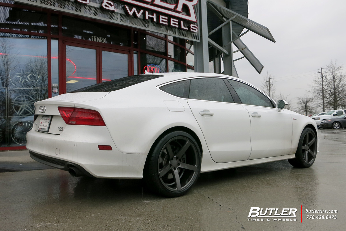 Audi A7 with 20in Vossen CV3-R Wheels