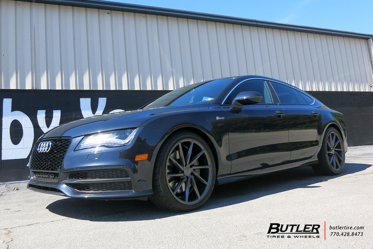 Audi A7 with 20in Vossen CVT Wheels