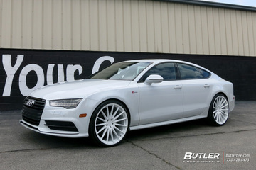 Audi A7 with 22in Avant Garde M615 Wheels