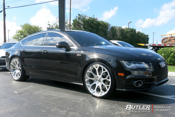 Audi A7 with 22in Forgiato Drea-M Wheels