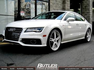 Audi A7 with 22in Forgiato Pianura Wheels