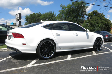 Audi A7 with 22in Lexani R-Twelve Wheels
