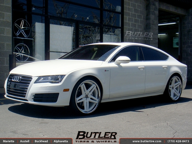Audi A7 with 22in Lexani R-Five Wheels