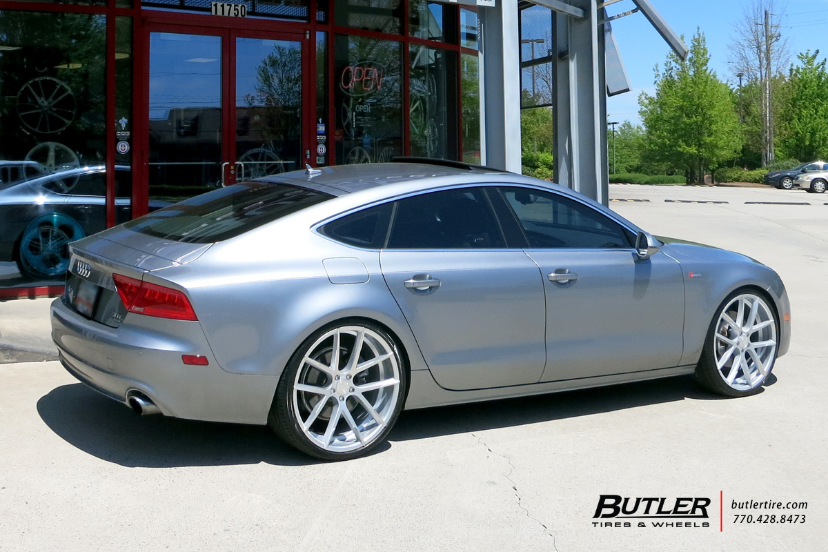 Audi A7 with 22in Lexani Stuttgart Wheels