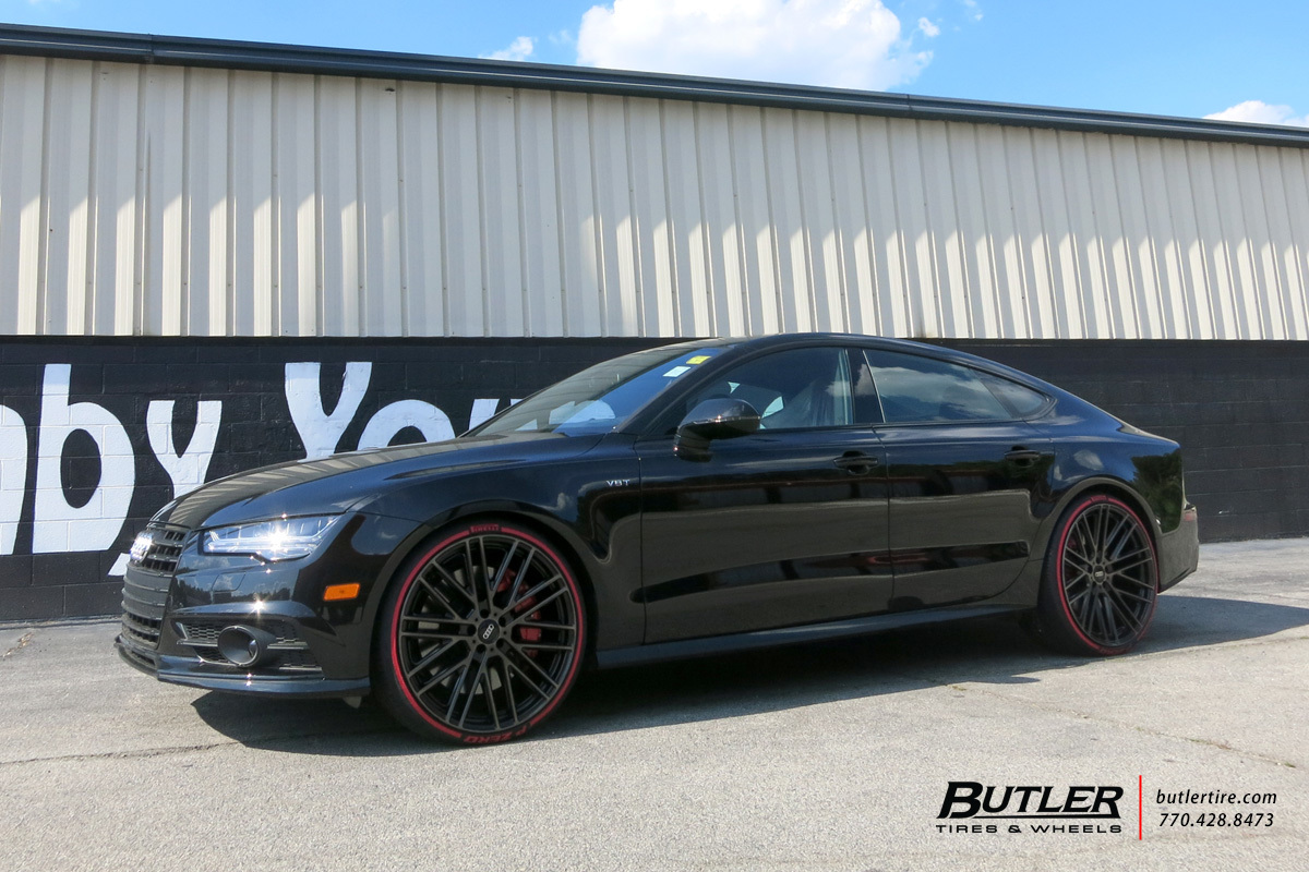 Audi A7 with 22in Mandrus Masche Wheels