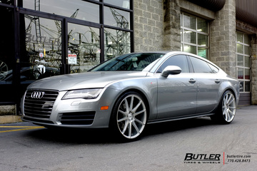 Audi A7 with 22in Savini BM12 Wheels