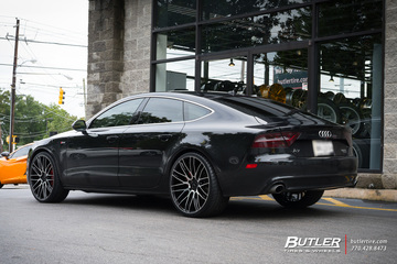 Audi A7 with 22in Savini BM13 Wheels
