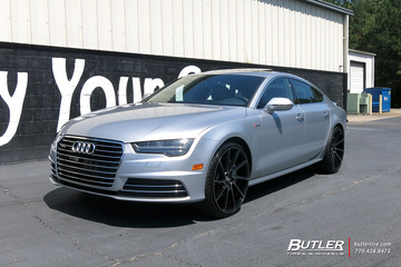 Audi A7 with 22in Savini BM15 Wheels