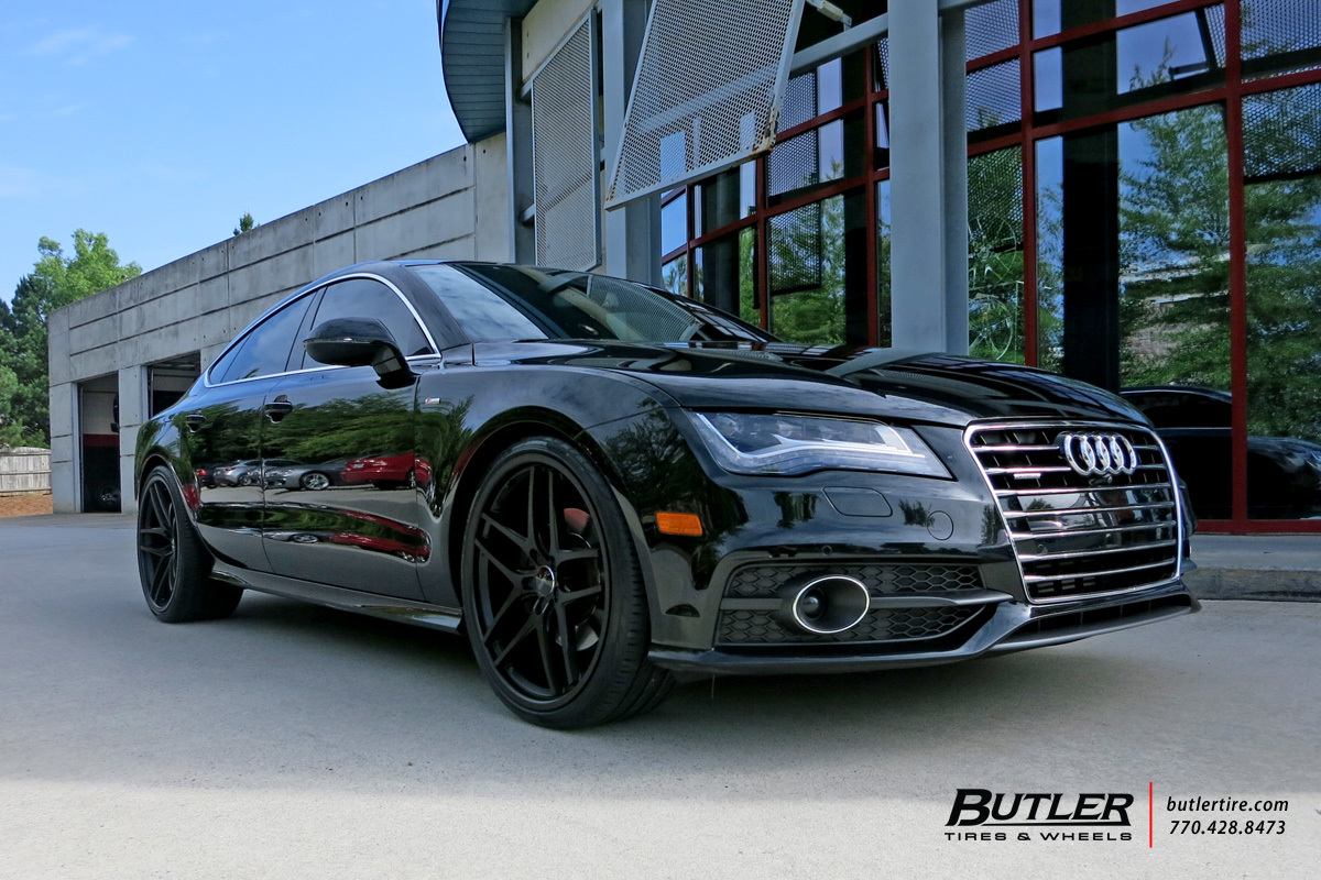 Audi A7 with 22in Savini BM7 Wheels