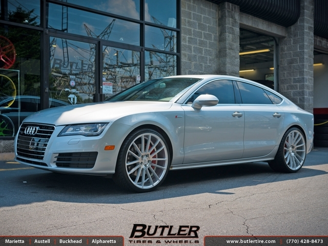 Audi A7 with 22in Savini BM9 Wheels