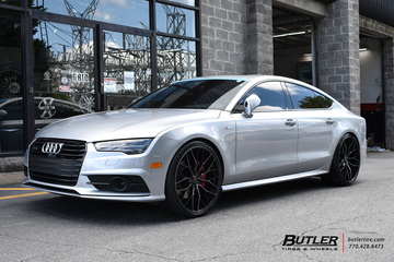Audi A7 with 22in Savini SV-F2 Wheels