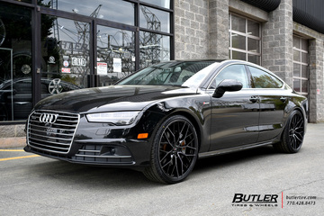 Audi A7 with 22in Savini SV-F 2 Wheels