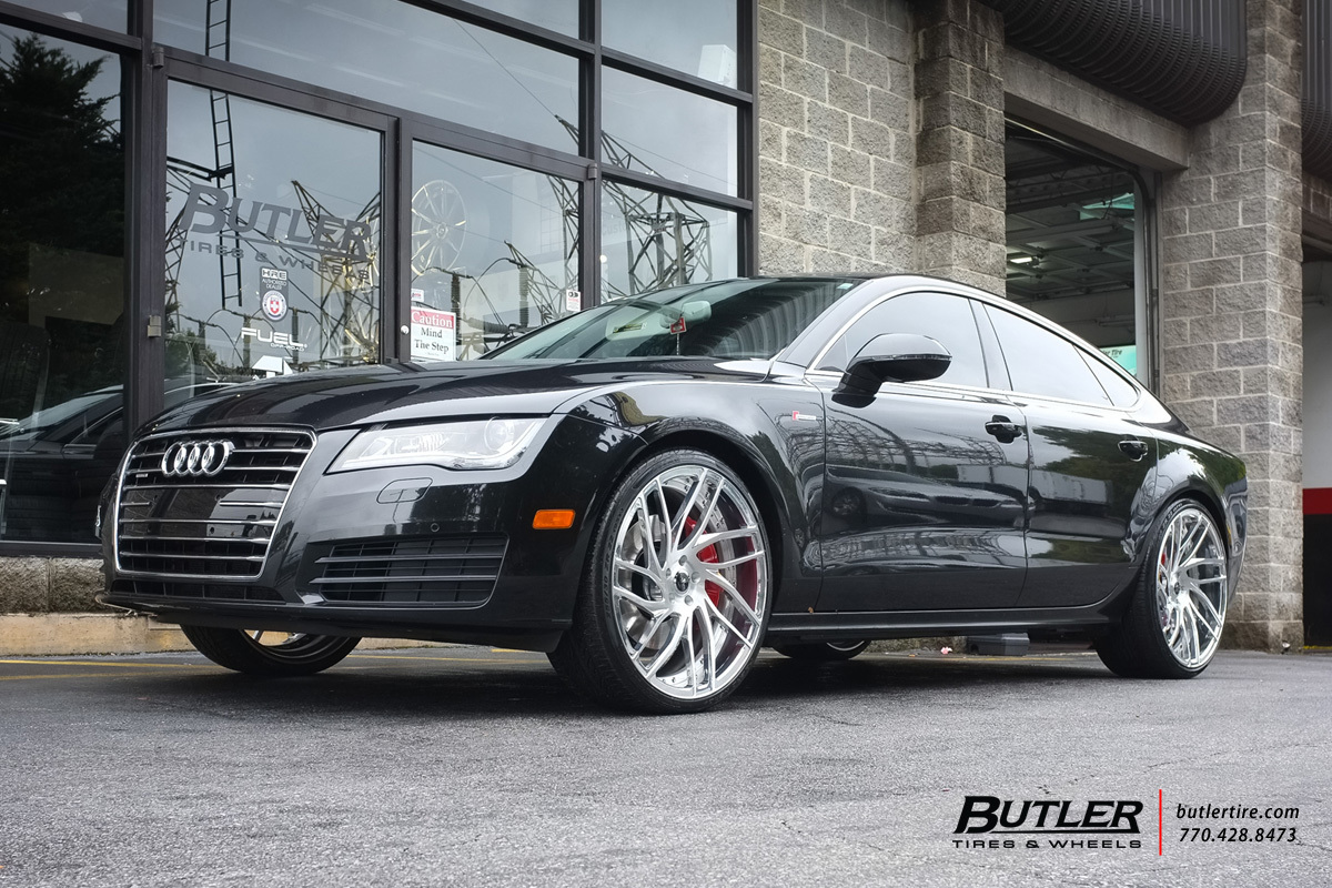 Audi A7 with 22in Savini SV62d Wheels
