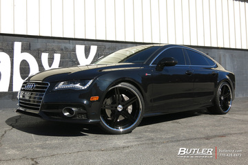 Audi A7 with 22in TSW Mirabeau Wheels
