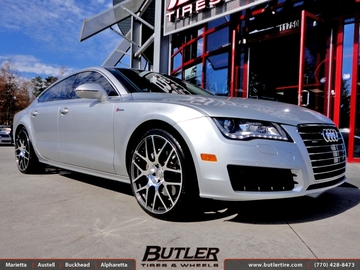 Audi A7 with 22in TSW Nurburgring Wheels