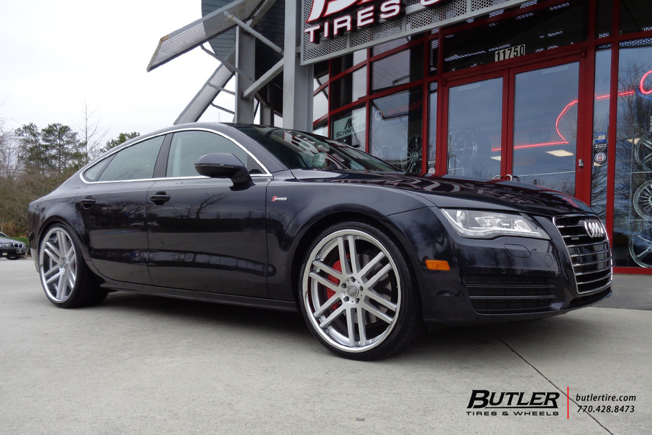audi a7 with 22in tsw rouen wheels exclusively from butler tires and wheels in atlanta ga. Black Bedroom Furniture Sets. Home Design Ideas