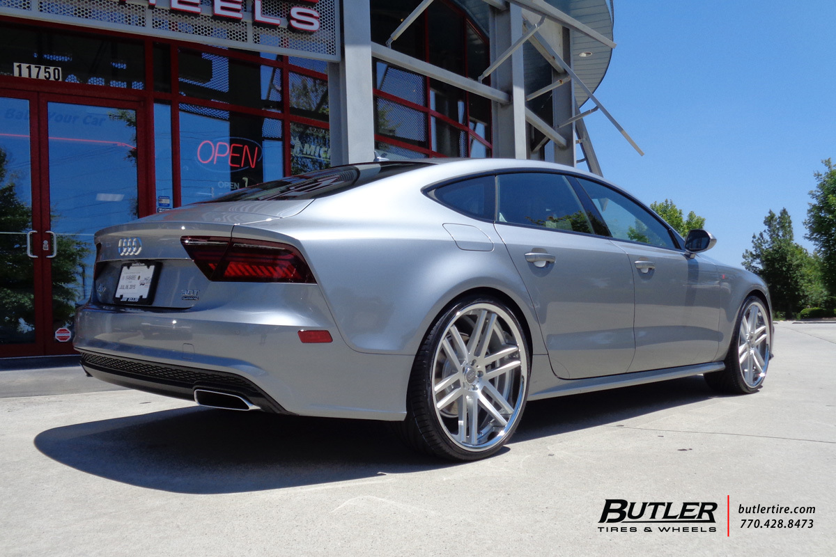 Audi A7 with 22in TSW Rouen Wheels