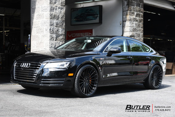 Audi A7 with 22in TSW Turbina Wheels