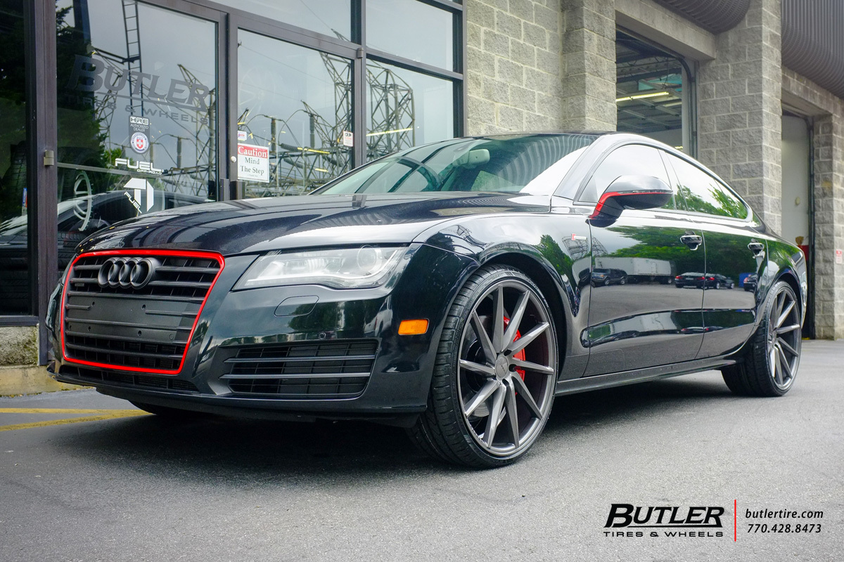 Audi A7 with 22in Vossen CVT Wheels