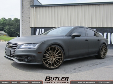 Audi A7 with 22in Vossen FF2 Wheels