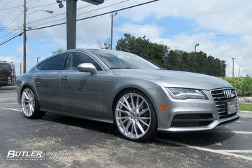Audi A7 with 22in Vossen HF-4T Wheels