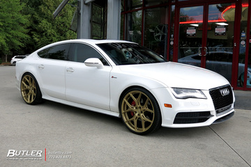 Audi A7 with 22in Vossen HF-5 Wheels