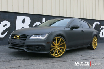 Audi A7 with 22in Vossen VFS1 Wheels