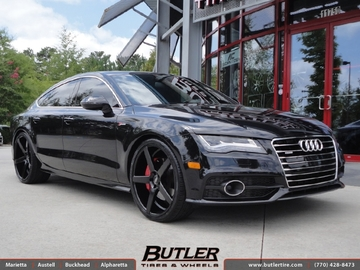 Audi A7 with 22in XO Miami Wheels