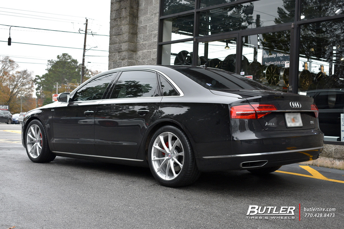 Audi A8 with 20in HRE P204 Wheels
