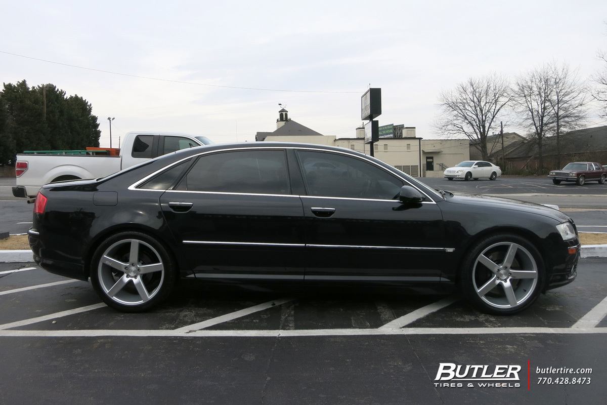Audi A8 with 20in Niche Milan Wheels