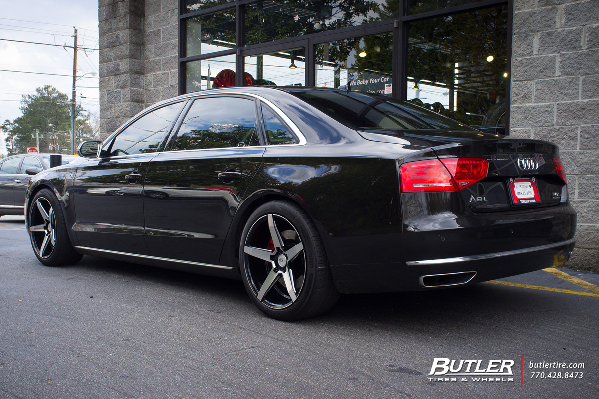 Audi A8 with 20in Savini BM11 Wheels