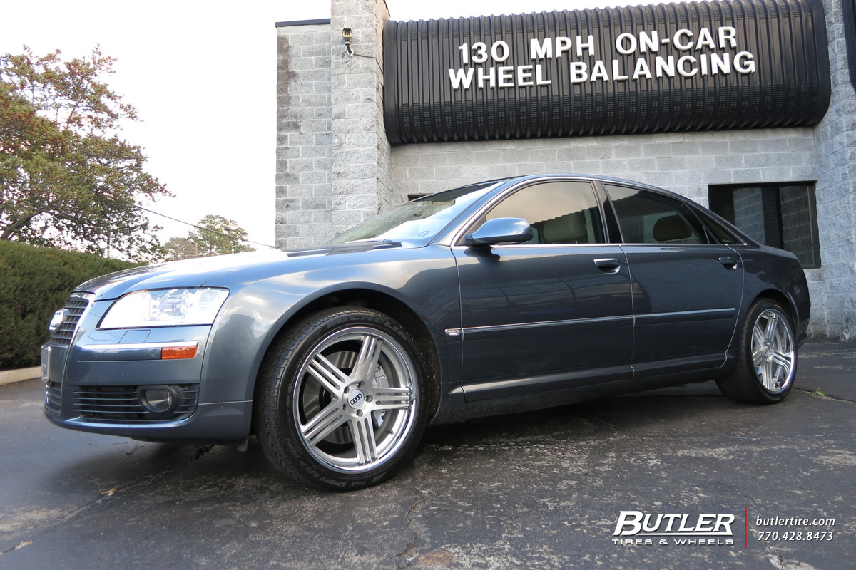 audi a8 with 20in tsw nouvelle wheels exclusively from butler tires and wheels in atlanta ga. Black Bedroom Furniture Sets. Home Design Ideas