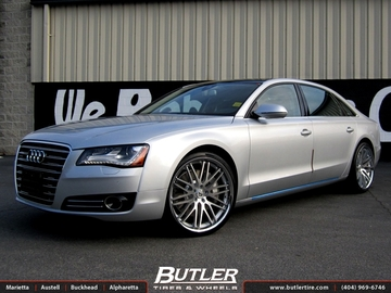 Audi A8 with 22in Lexani CVX 44 Wheels