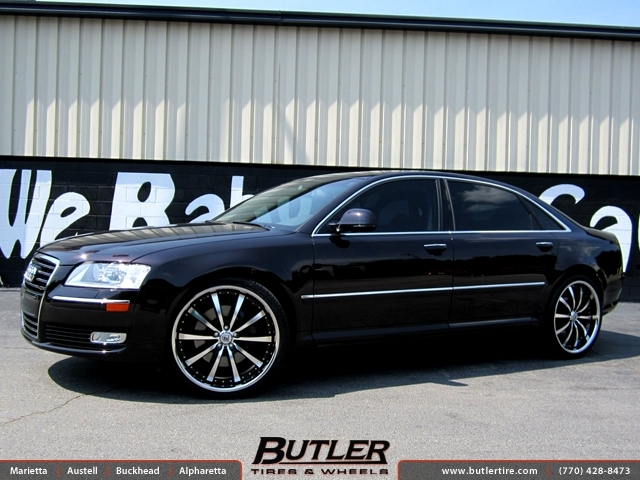 Audi A8 with 22in Lexani LSS10 Wheels