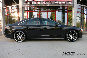Audi A8 with 22in Lexani R-Fourteen Wheels