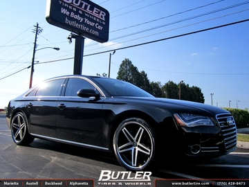 Audi A8 with 22in Lexani R-Five Wheels