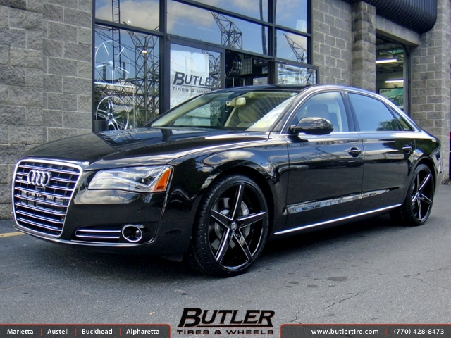 Audi A8 with 22in Lexani R-Four Wheels