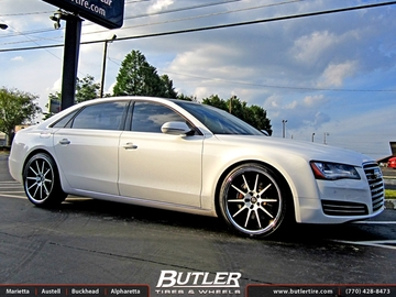 Audi A8 with 22in Lexani R-Ten Wheels