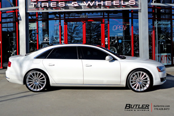 Audi A8 with 22in Mandrus Rotec Wheels