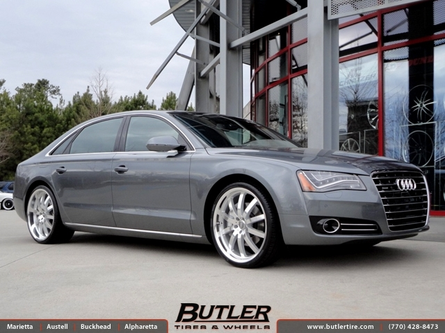 Audi A8 with 22in Mandrus Wilhelm Wheels