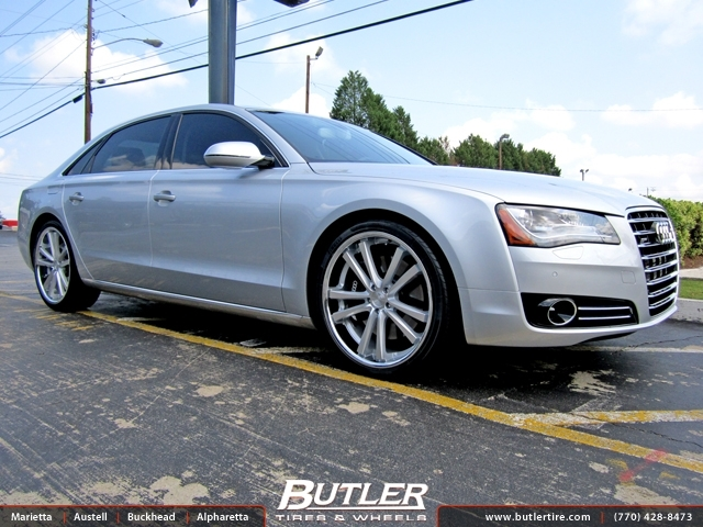 Audi A8 with 22in Niche Concourse Wheels