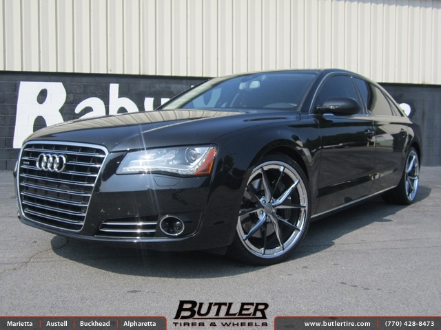 Audi A8 with 22in Niche Misano Wheels