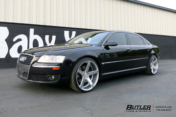 Audi A8 with 22in Savini BM11 Wheels