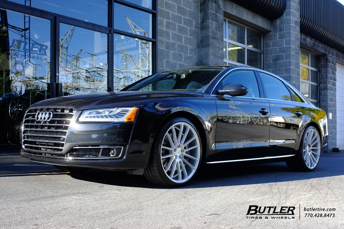 Audi A8 with 22in Savini BM9 Wheels