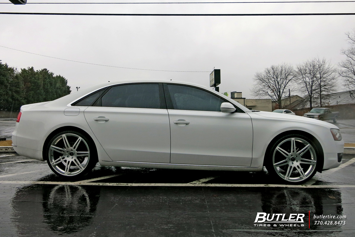 Audi A8 With 22in Savini Sv48m Wheels Exclusively From