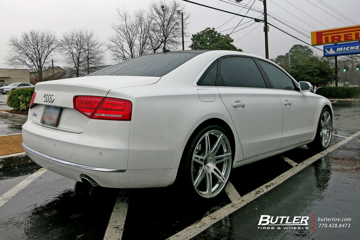 Audi A8 with 22in Savini SV48m Wheels